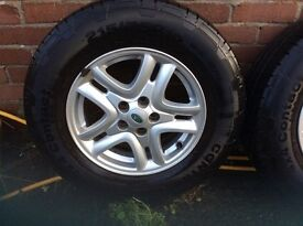 Landrover tyres and alloy wheels