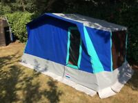Used, Cabanon Elzas canvas frame tent with sun canopy for sale  Harlow, Essex
