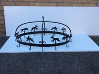 Attractive cast iron Ceiling mounted pot and pan rack