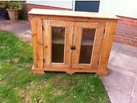 Old Pine Sideboard/ Drinks Cabinet / Book Case