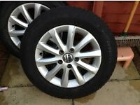 VW GOLF MK5 15inch alloys with great condition tyres *GINUINE*