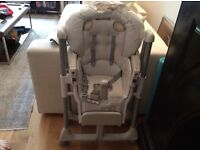 Baby feeding high chair from Mamas and papas plus potty and Buggy board thats never used
