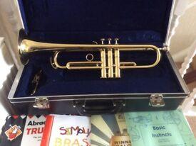 Brass trumpet- ideal for a beginner.