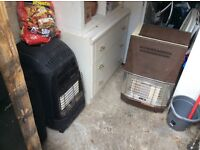2 gas heaters with empty gas bottles