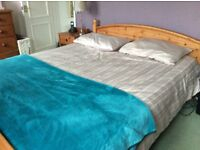 IKEA Pine King Size Bed Frame and Mattress for Sale