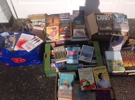 BOOKS over 150 nearly all fiction hardback and paperback