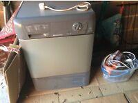 Tumble dryer, grey, hardly used, standard size