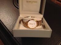 Mans Longines gold plated watch