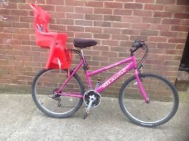 Ladies Mountain bike with Child Seat