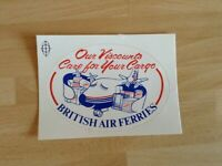 A British Air Ferries Our Viscounts Care for Your Cargo Logo Sticker/Label