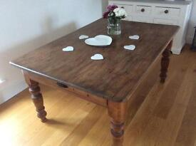 GENUINE OLD FARMHOUSE FRENCH COUNTRY DINING TABLE