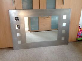 Large modern mirror for sale.