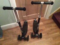 Black micro maxi scooter x 2