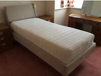 Single electric adjustable bed with mattress