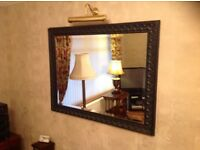 Large Mirror 46 inches by 36 inches with Black scalloped Frame