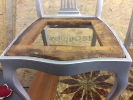 Hi Gloss EDWARDIAN 100 year old + Dining Chairs