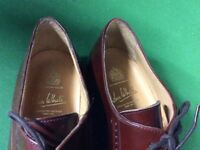 John White mens shoes brown size 9.1/2 leather uppers,leather soles, leather lined (NEW)