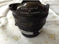 Sigma fisheye lens