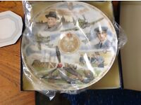 PAIR OF COMMEMMORATIVE BATTLE OF BRITAIN PLATES EXCELLENT CONDITION