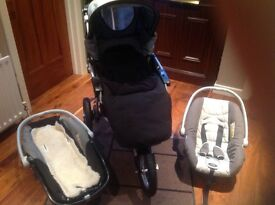 Jane Powertrack Push Chair with car seat and cot
