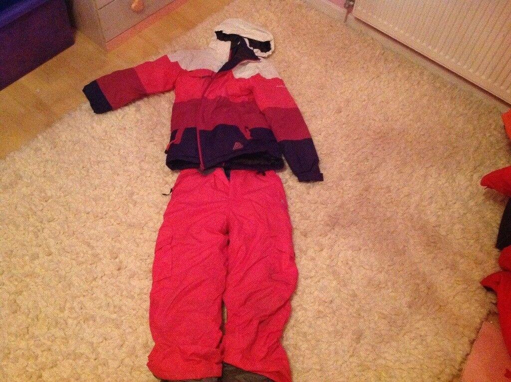 Selection of various ski wear for children