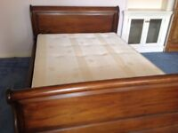 Lovely double sleigh bed