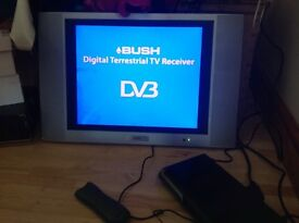 Alba flat screen tv with digital box and remote