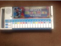 Vintage Bontempi Walt Disney Mickey Band Reed Organ Keyboard