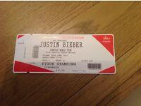 Justin Bieber ticket standing