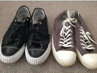 Two pairs of G Star Raw shoes size 9.