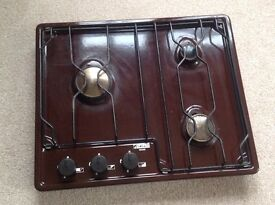 Three ring lpg hob for camper van etc.
