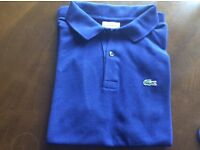 Lacoste blue polo shirt age 13/14
