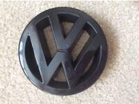 VW Black Grill Badge