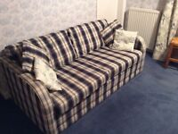 Sofa bed - excellent condition. Full size double bed. Co-ordinating bedding.