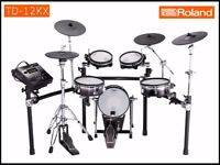 Roland V DRUMS TD-12KX & VEX packs Electronic Drum Kit inc hardware. SUPERB not td20 30 50