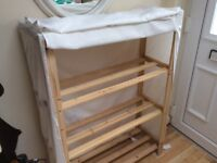 3 tier shoe rack with cover