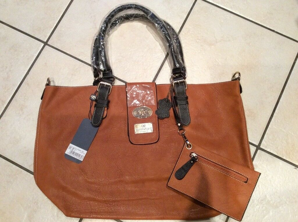 Real leather shopper bag - new with tags