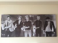 One direction picture and canvas