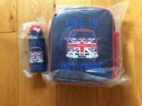 FAT FACE CAMPERVAN LUNCH BOX AND DRINK CUP BRAND NEW WITH TAGS