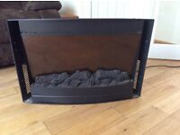 Electric wall mounted 2kW fire with remote for sale