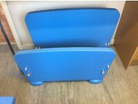 Ikea mammut child's bed and small drawers blue
