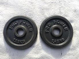 18 x 1.25kg Pro Power Standard Cast Iron Weights