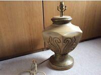 LARGE HEAVY ORNATE LAMP