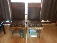 2 rattan dining chairs