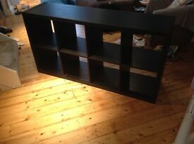 Ikea black storage unit