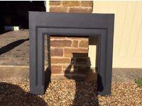 Fireplace - Belgravia black slips, brand new