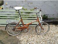 Super original 1970's/80's Bill Hargreaves of Dewsbury folding bike.