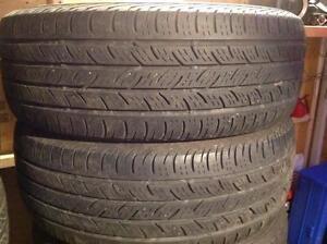 2 pneus d'été 225/60 r17 continental conti pro contact.  90$