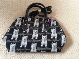 Gorgeous Highland Terrier handbag new