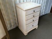 DUCAL RIVERDALE 4 DRAWER CHEST OF DRAWERS / FOUR DRAWER CHEST OF DRAWERS